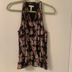 Leith tank top- Fall floral print- XS